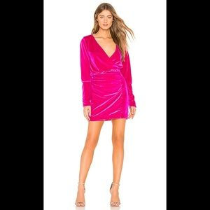 New w/ Tags NBD Zaiden Velvet Dress- Magenta- Sz S